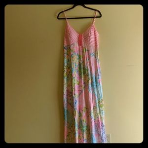 Lilly pulitzer maxi dress size 10 with tags unworn